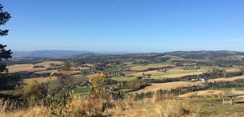 Utsikt fra Bjørgeberget