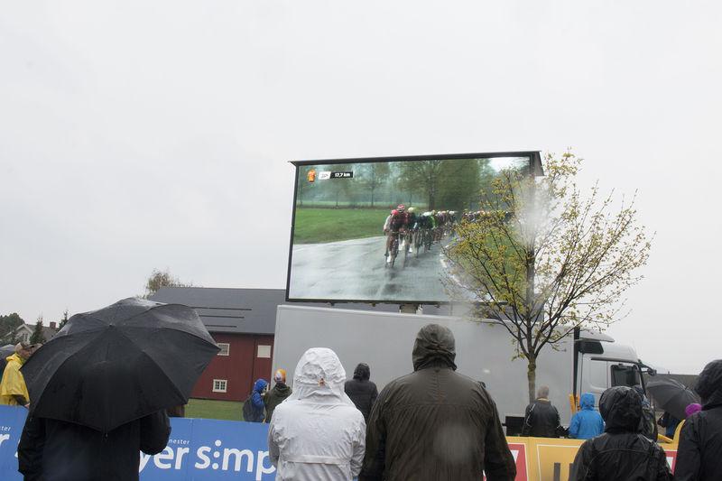 Sykkelritt på storskjerm