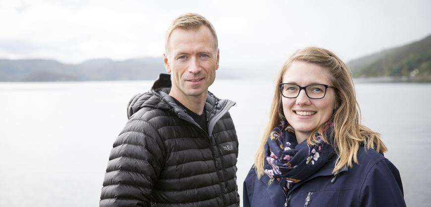 Prosjektmedarbeidere Nye Namsos: Hallvard Wågheim og Hanne Marthe Breivik.