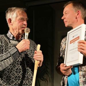 Æresvandrer 2017 til Jon Bojer Godal (t.v)