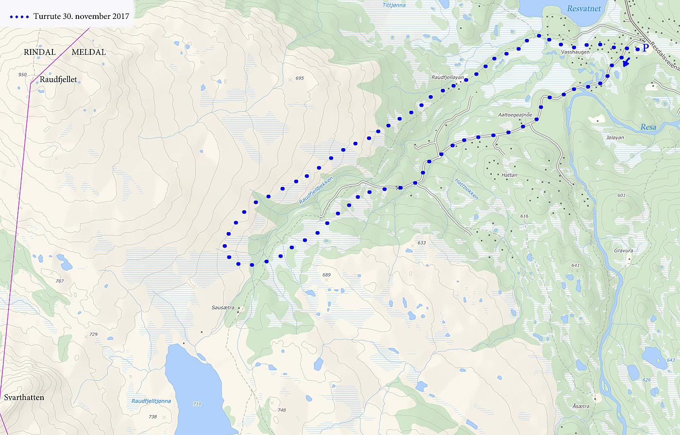 resdalen kart Rundtur fra Resdalen   Folden Foto resdalen kart