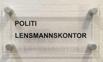Lensmann skilt