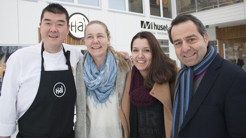 Fra v: Hai Hang, Trude Bergundhaugen, Monica Østenheden og Asle Berteig