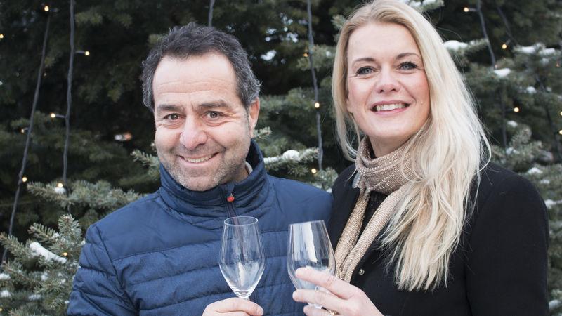 Kultursjef Asle Berteig og Henriette Enger inviterer til kommunalt fyrverkeri på nyttårsaften