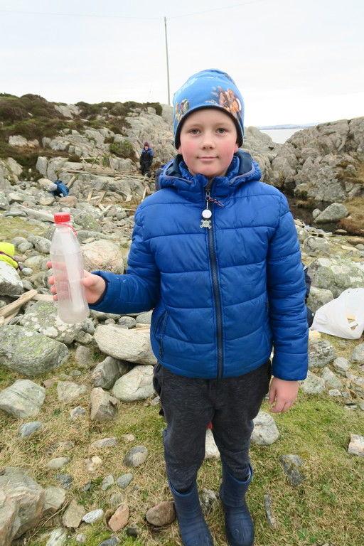 Kanskje har flaska Malvin fann vore jorda rundt, på dei 15 åra ho har brukt frå Askøy til Fedje?