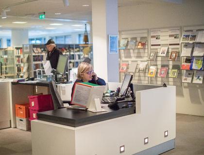 Biblioteket i Moelv.