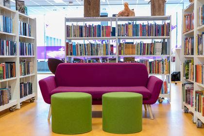 Biblioteket på Brøttum.