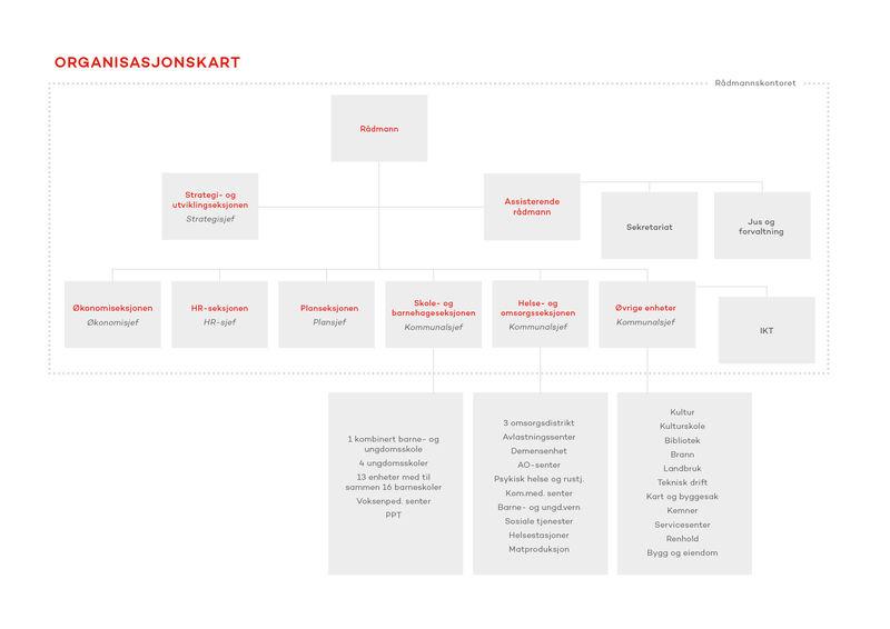 Organisasjonskart for Ringsaker kommune
