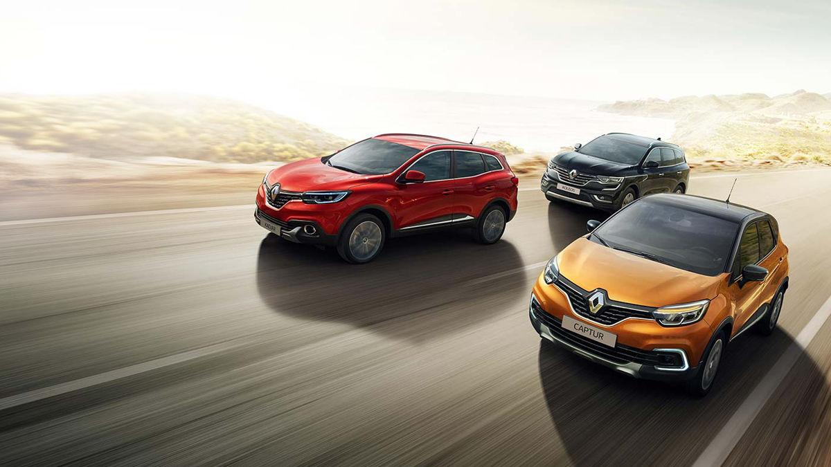 Renault Crossover Captur Koleos Kadjar