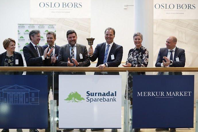Surnadal sparebank på børs