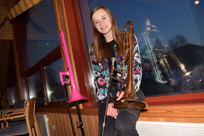 Linnea Fagermoen Apeland har spilt trombone i ni år