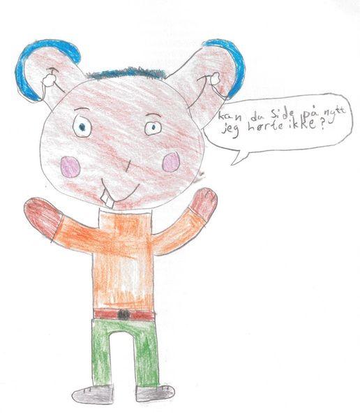 Barnetegning av en bamse tegne av Signe