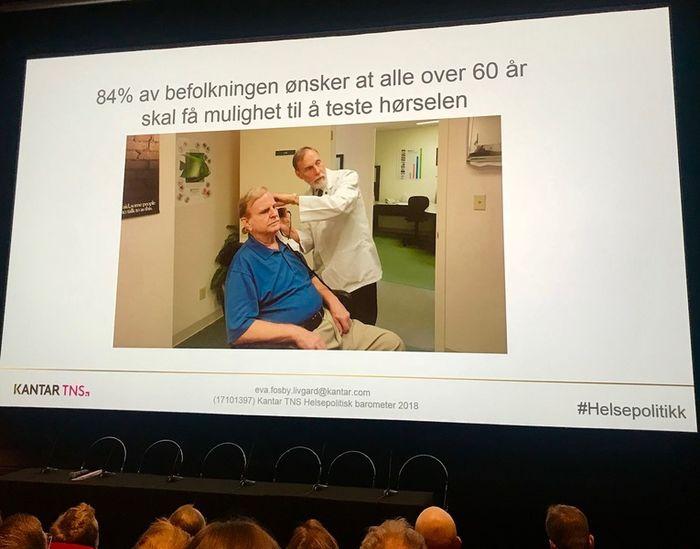 JA TAKK. Et stort flertall av av befolkningen mener det er viktig å tilby gratis hørselstest etter fylte 60 år.