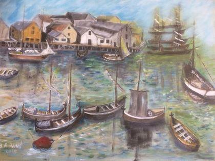 Havna i Hammerfest år 1870