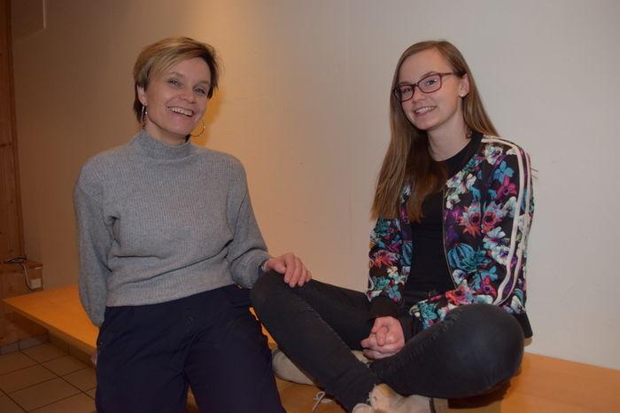 Linnea Fagermoen Apeland og mamma Mona Fagermoen Apeland