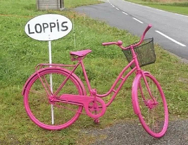 Loppis - Rosa sykkel