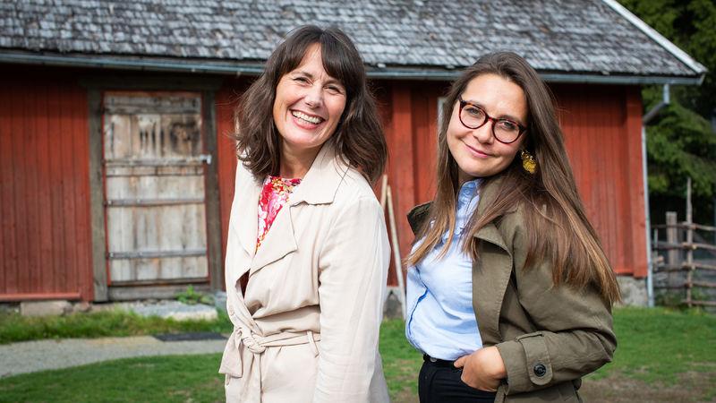 Daglig leder ved Prøysenhuset, Marie Beate Rise og regissør for «Snekker Andersen og Julenissen», Helena Wik.
