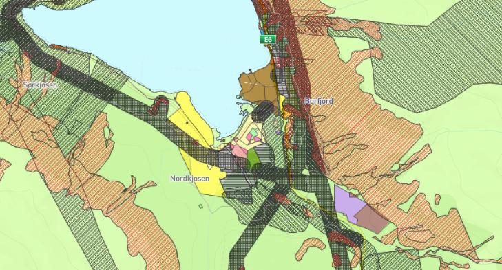 Lite kart arealplan Burfjord