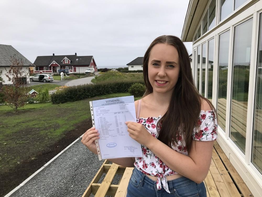 STERKT RESULTAT. Marthe Solheim Helseth fra Bud utenfor Molde fikk endelig vist hva hun er god for, da hun begynte på Briskeby videregående skole i Lier.