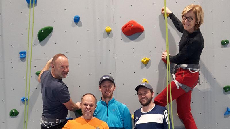 Lærere i klatrevegg
