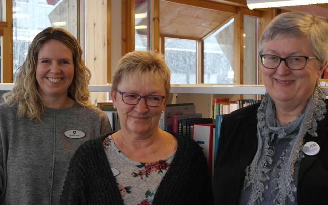 bilde av Monica Hasli, Guri K. Larsen og Torhild Hagene