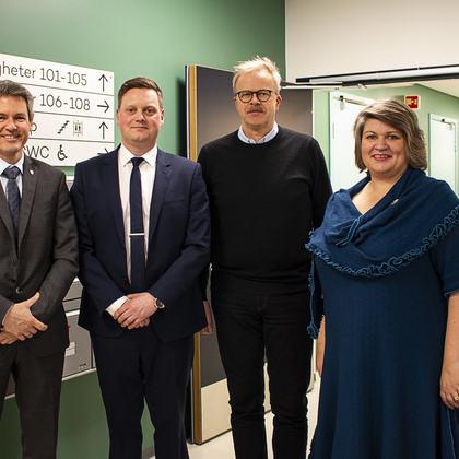 Fra v. Sverre Rudjord, Petter Granum, Geirmund Østvold, Anita Ihle Steen