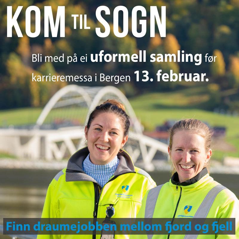 Illustrasjon Kom til Sogn karrièremessa Bergen 2019