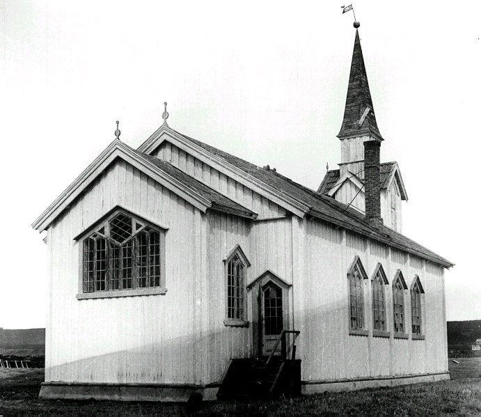 Nesseby kirke, foto: Dancke/Gjenreisningsmuseet