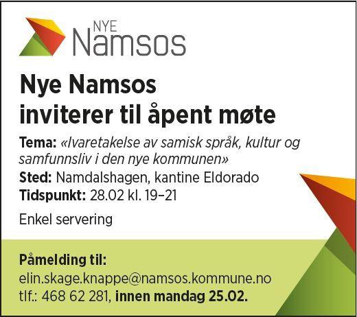 Bilde av annonse om møte ang samisk kultur
