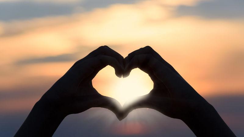 Hjerteformede hender