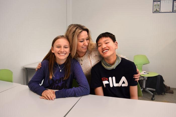 HEIER PÅ ELEVENE. Kontaktlærer Vigdis Hindhammer Borthen er stolt over å ha elever som Clara Josephine Rønnevig Fjeldheim og Marcus Eisold.