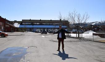 Tom på Rindalstorget