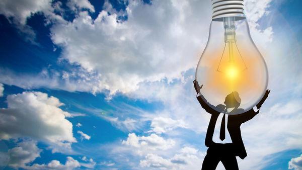 Mann med lampe