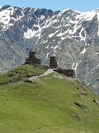 Kazbek,Kazbek mountain,Gergeti Trinity church,Tsminda Sameba.