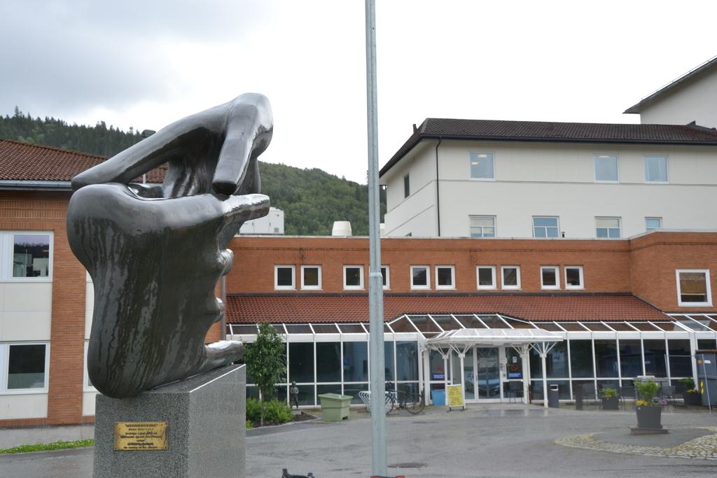NYTT TILBUD. Orkdal sjukehus i Orkanger utvider med egen høresentral fra neste år. Foto Erik Eikebrokk - Avisa Sør-Trøndelag