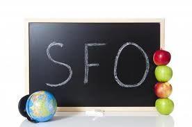 Tavle der det står SFO