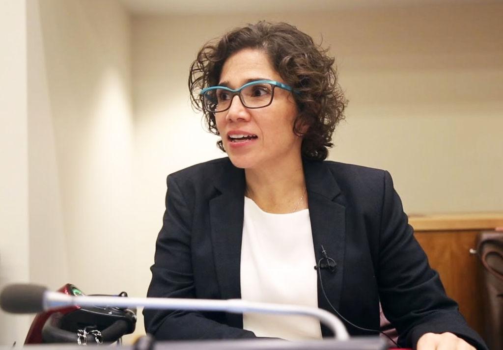 SJEKKER NORGE. FNs spesialrapportør for funksjonshemmede Catalina Devandas Aguilar (Foto. FN)