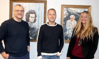 Tor Rune Halset, Anders Larsen og Anne Lise Wullum
