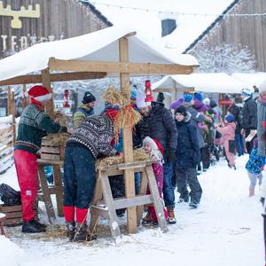 Foto fra julemarked