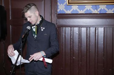 Jørgen Strickert tok imot prisen på vegne av Terje Strømdahl