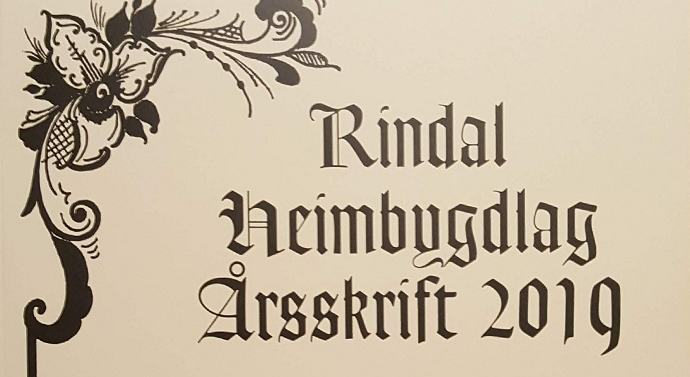 ingr rindal heimbygdlag årsskrift 2019