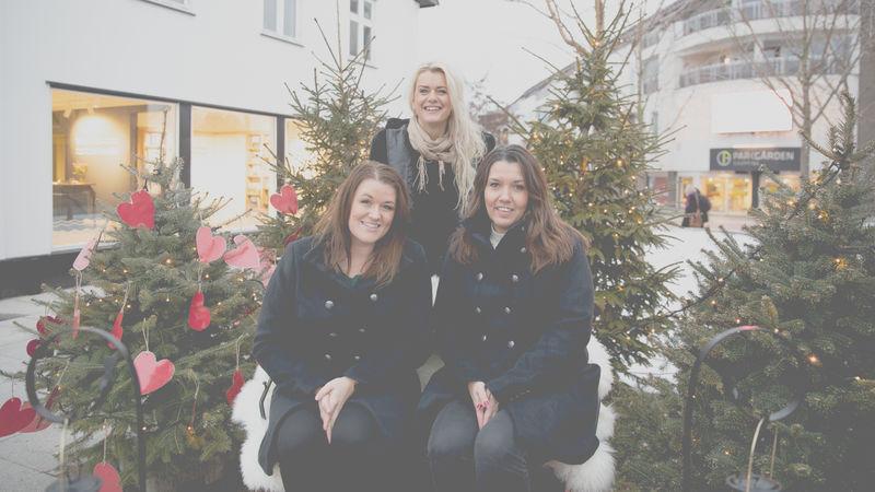 Tre damer i slede