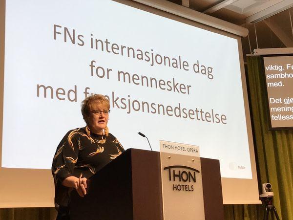 MER KUNNSKAP. Kultur- og likestillingsminister Trine Skei Grande ønsker mer kunnskap om CRPD ute i kommunene. Foto. Bjørg Engdahl