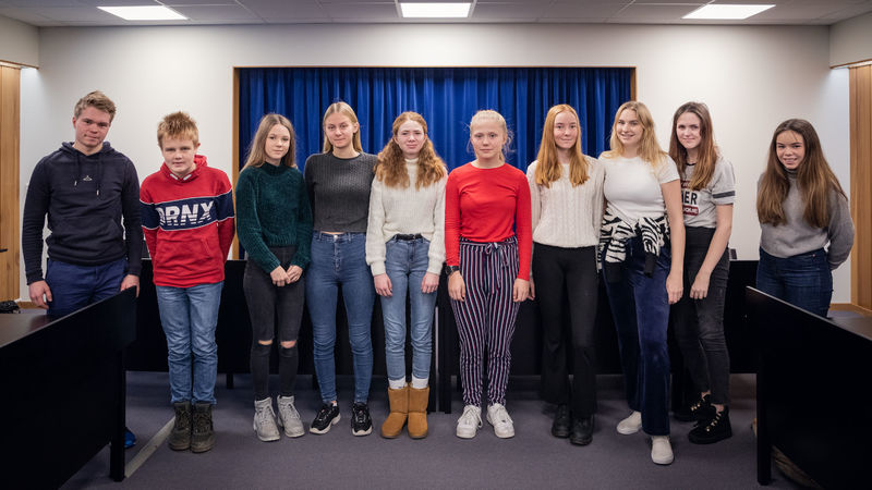 Gruppebilde ungdomsrådet