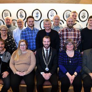 Kommunestyret i Kvænangen 2019-2023. Foto: Isabell Haug