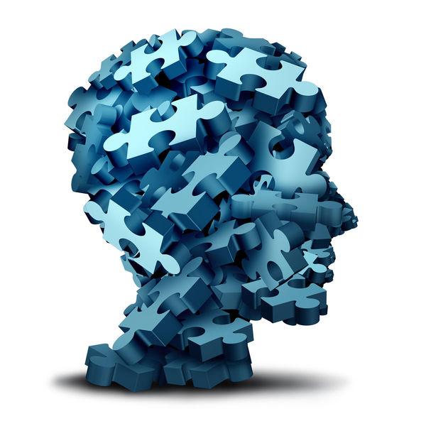Hjerne av puslespillbitar