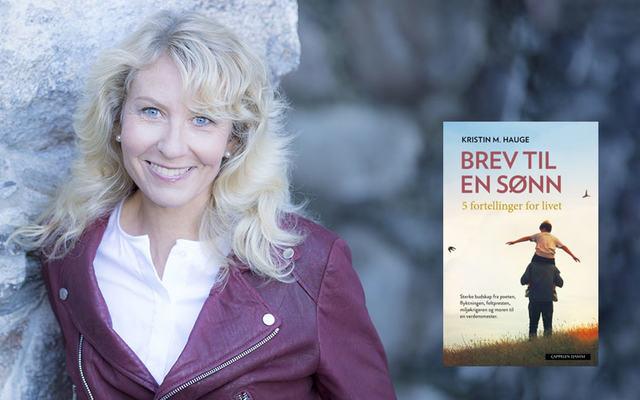 bilde av Kristin Hauge med bok