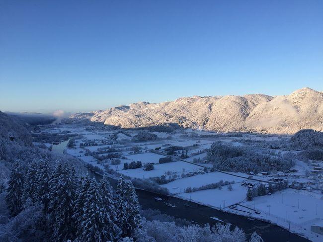 Utsikten snø
