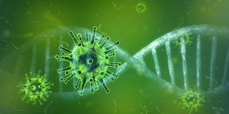 Illustrasjon av koronavirus