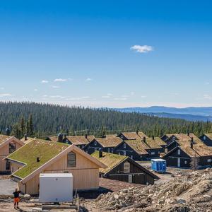 Foto av hyttefelt på Sjusjøen